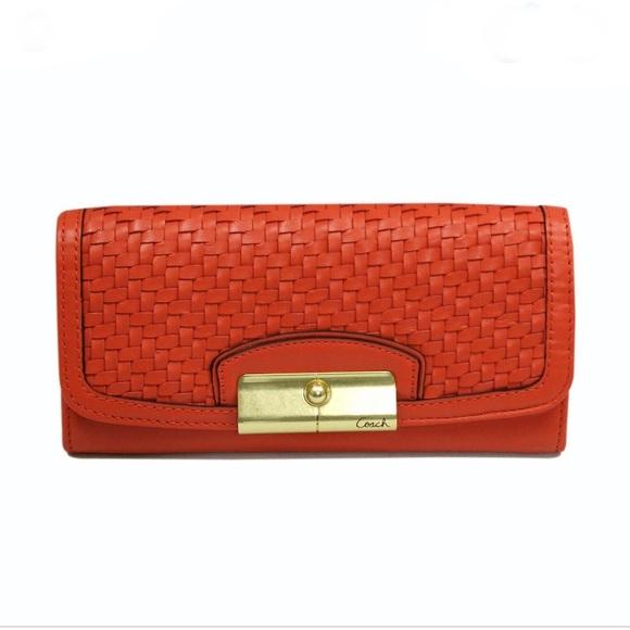 Coach Handbags - COACH Kristen Woven Wallet Clutch